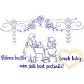 Nástěnná textilní kuchařka - Dobrou buchtu