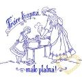 Nástěnná textilní kuchařka - Práce kvapná