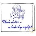 Polštář Všude dobře - u babičky nejlílp! předloha pro vyšívání 90 x 60 cm