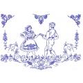 Nástěnná textilní kuchařka - Krojový pár