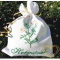 Sáček na bylinky heřmánek - předloha pro vyšívání - dárkové balení