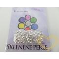 Ručně foukané stříbrné perličky 4 mm - šmelc - 60 ks