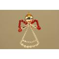 Hobby set - vánoční ozdoba andělíček červený