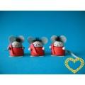 Myšky se srdíčkem - 3 ks (skládačka)
