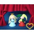 Princezna a kašpárek - 1 pár (skládačka)