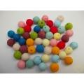 Vatové kuličky ø 15 mm mix barev - 50 ks