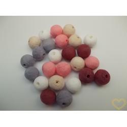 Vatové kuličky ø 15 mm růžovo-fialový mix - 25 ks
