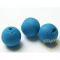 Modré vatové kuličky ø 18 mm -díra skrz - sada 50 ks