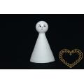 Bílé vatové figurky s obličejem - 10 ks