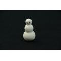 Sněhulák - bílá figurka s obličejem