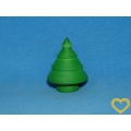 Sada 10 stromků z buničité vaty (39 x 50 mm) - zelená barva