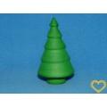 Sada 10 stromků z buničité vaty (41 x 70 mm) - zelená barva