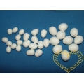 Mix bílých vatových vajíček - sada 30 kusů