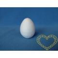 Bílá vatová vajíčka 42 x 60 mm - sada 10 kusů