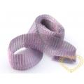 Širší bižuterní drátěný pásek - lila melír