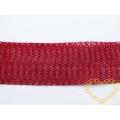 Širší bižuterní drátěný pásek - červený
