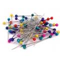 Barevné perleťové špendlíky - 100 ks