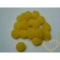 Žluté bambulky - Ø 20 mm, sada 1000 kusů