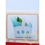 Malý košíček na cukroví s růžičkami - výřez 10 ks