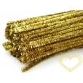 Modelovací chlupatý drátek  zlatý silnější - 1 ks