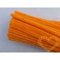 Modelovací chlupatý drátek oranžový - sada 100 ks