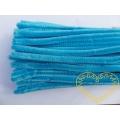 Modelovací chlupatý drátek jasně modrý - sada 100 ks