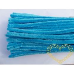 Modelovací chlupatý drátek jasně modrý