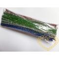 Modelovací metalický drátek chlupatý barevný mix - 90 ks