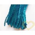 Modelovací chlupatý drátek metalický světle modrý - 100 ks
