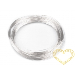 Drátek stříbrný  Ø 0,18 mm, návin 20 m