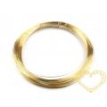 Drátek zlatý Ø 0,3 mm, návin 10 m