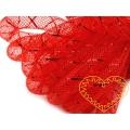 Červená modistická dutinka s lurexem Ø 8 mm - 1 m