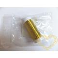 Drátek zlatý na cívce - ø 0,3 mm, délka 80 m