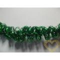 Zelená žinylka s drátkem - 4 m