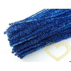 Modelovací chlupatý drátek metalický modrý - 100 ks