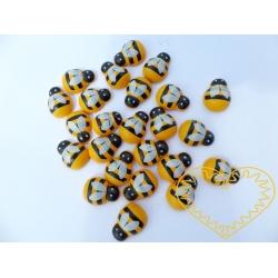 Včela dřevěná nalepovací 1,2 cm - 24 ks