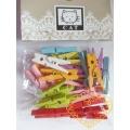 Dřevěné kolíčky pastelové barvy - 24 kusů