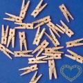 Malé dřevěné kolíčky - 100 kusů