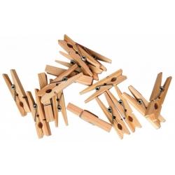 Dřevěné kolíčky přírodní 2,5 cm - 1000 ks