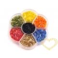 Skleněné tyčky - čípky v plastovém boxu - 7 barev