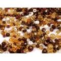 Hnědý mix - skleněné korálky - balení 50 g