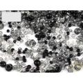 Černobílý mix - skleněné korálky - balení 50 g
