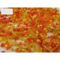 Oranžový mix - skleněné korálky - balení 20 g
