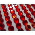 Červené nalepovací perličky  ø 8 mm 88 ks