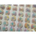 Duhové nalepovací perličky  ø 6 mm 260 ks