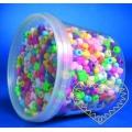Plastové korálky s velkým průvlekem - 1200 ks