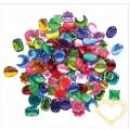 Barevné kamínky různé tvary - 250 ks