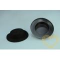 Větší černý semišovaný plastový klobouček - 1 ks