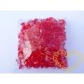 Velké červené plastové kamínky - 500 g