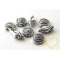 Akrylové korálky lastury a šneci - starostříbro 250 ks